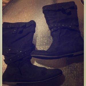 Other - Little girls black suede boots