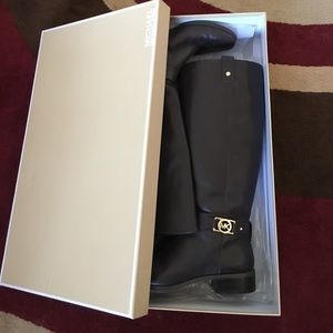 Michael Kors Leather Riding Boots