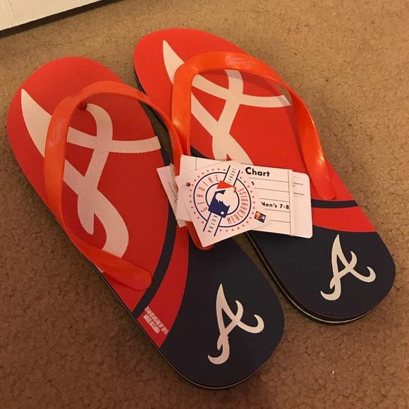 d080379a1f5b9 Atlanta Braves Baseball Flip Flops