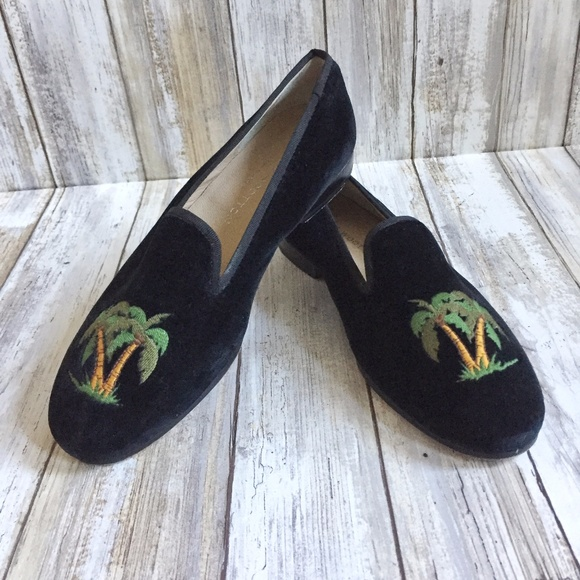 ab8d53097 Stubbs & Wootton Shoes | Stubbs Wootton Palm Tree Velvet Loafers ...