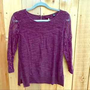 Knitted + Knotted Anthropologie Maroon Sweater