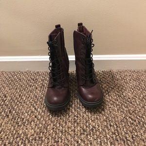 H&M heeled Combat boots