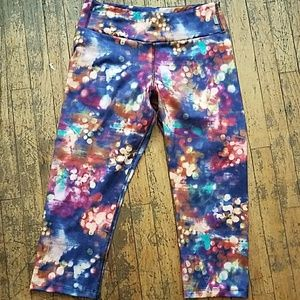 Workout leggings capris colorful gym pants