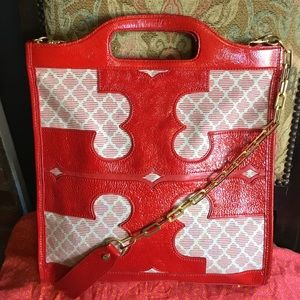 Large Tory Burch Thalie Tote Rare !!!