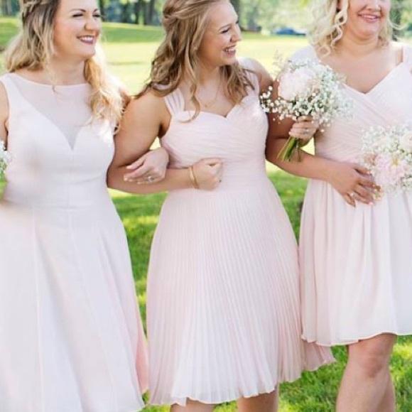 "fa1ee909ef Azazie Dresses   Skirts - Azazie ""Alana"" Blushing Pink Bridesmaids Dress"