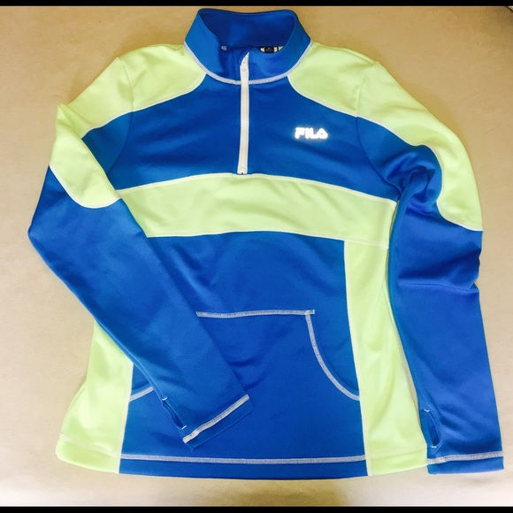fila 1 4 zip. fila sweaters - fila 1/4 zip up fleece lined pullover size med 1 4 h