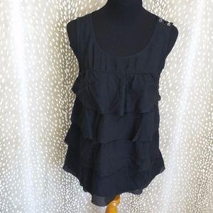 J. Crew Silk Tiered Ruffled Cami Shirt Size 4