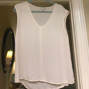 Jcrew 10P cap sleeve blouse ivory