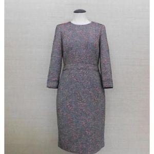 Tweed knee length dress