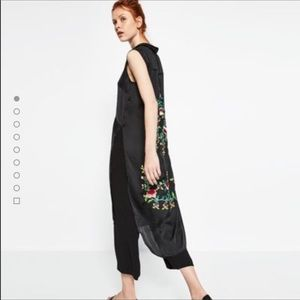 zara floral embroidered top/ dress