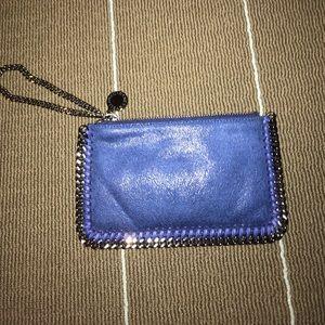 Stella McCartney falabella micro suede wrist pouch
