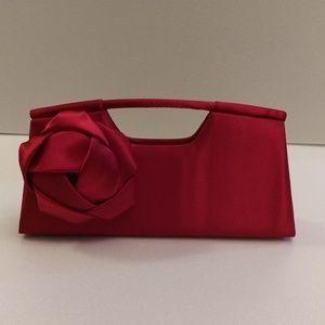 Red clutch purse