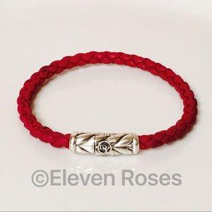 David Yurman Woven Red Rubber Chevron Bracelet