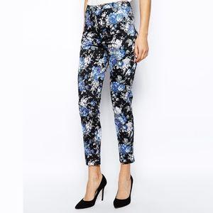 asos • oasis • floral soft rose print slim pants