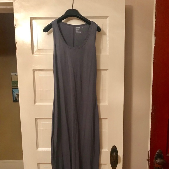 19fec21f1f PACT Organic cotton maxi dress in Twilight Gray