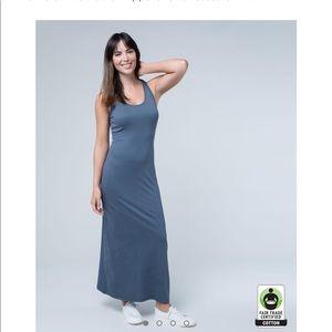 407e788589 PACT Organic Dresses - PACT Organic cotton maxi dress in Twilight Gray