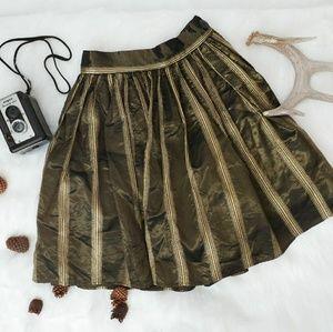 Vintage Striped Holiday Circle Skirt