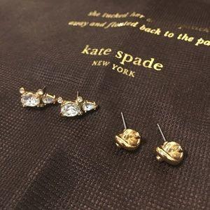 Kate Spade ♠️ Turtle studs & Sailors knot earrings