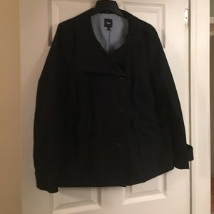 Black lightweight pea coat