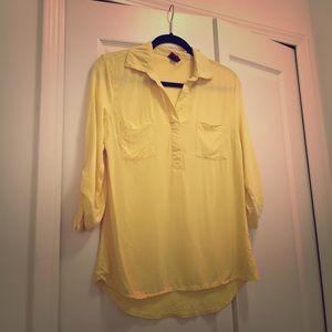 Merona Yellow 3/4 Sleeve Top