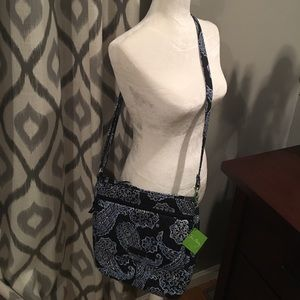 Vera Bradley Double Zip Mailbag Blue Bandana NWT