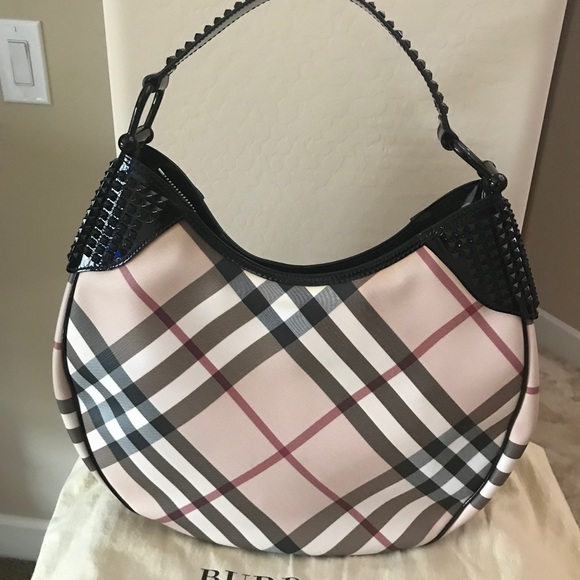 97f16730b88 Burberry Handbags - Authentic Burberry studded hobo bag