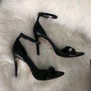 Minimalist ankle strap heels