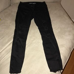 Old navy Jeans rock star distressed