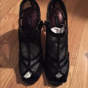 Dolce & Gabbana mesh ankle bootie