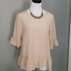 Topshop Boutique Dusty Pink Silk Top