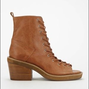 Jeffrey Campbell Merry Widow Lace Up Booties