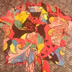 Abstract Crop Top Jacket