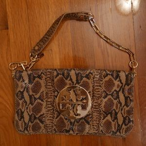 Tory Burch snakeskin purse