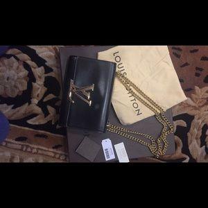 Authentic polouise mm chanoire leather bag