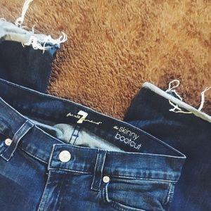 Skinny Bootcut Denim Jeans