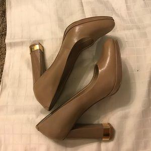Gorgeous nude Block Heels