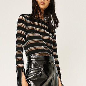 Zara shiny striped top