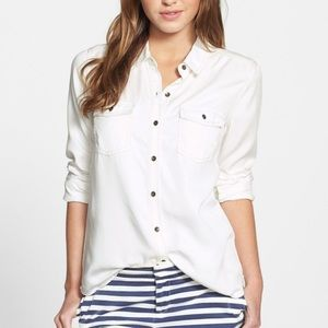 Halogen White Chambray Button Down