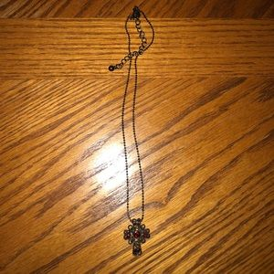 Cross necklace with chain