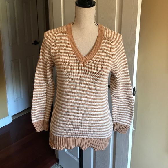 J. Crew Sweaters - J.Crew Cotton V-neck sweater in stripe