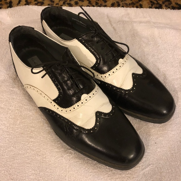 Stacy Adams Black White Spectator Shoes