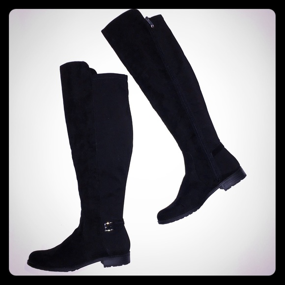 Wide Calf Tall Black Boots   Poshmark