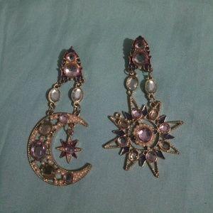 Gorgeous Star Moon Earrings