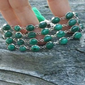 Nice multi malachite green gemstone bracelet