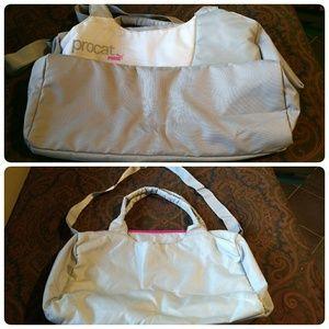Procat Puma Zippered Duffel Bag – Lt Grey, Pink