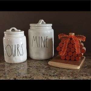 New Rae Dunn Yours and Mine Canisters