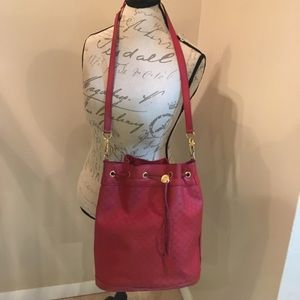 AUTHENTIC GUCCI RED LEATHER BAG
