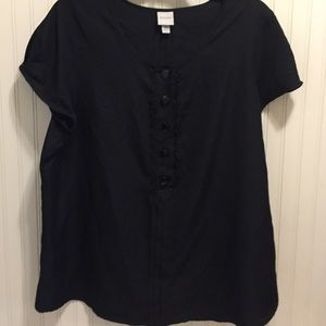 Merona button front embellished blouse
