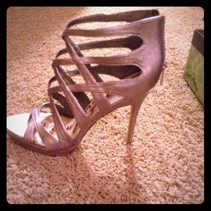 Sam Edelman Erin Woman's Open Toe Leather Heels