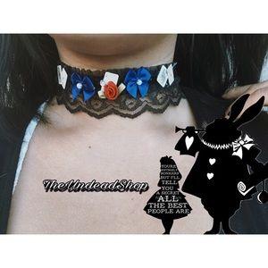 Gothic lolita choker handmade original design